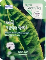 Тканевая маска для лица с экстрактом зеленого чая 3W Clinic Fresh Green Tea Mask Sheet - Интернет-магазин корейской косметики SKINSOFT
