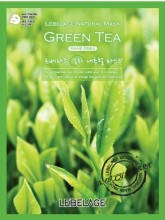 Тканевая маска с экстрактом зеленого чая Lebelage Green Tea Natural Mask - SKINSOFT